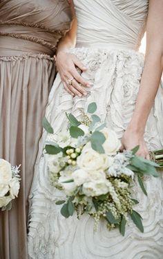 Bridesmaids gowns #weddings #bridesmaids #dresses  #khaki