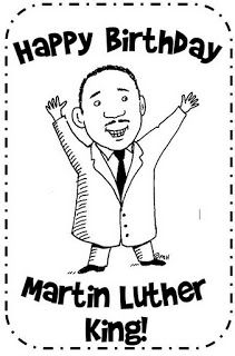 Funny Cartoon Drawing of Martin Luther King Coloring Pages