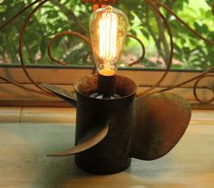 Cast Bronze Boat Propeller Lamp by RevisitedConcepts on Etsy, $259.00