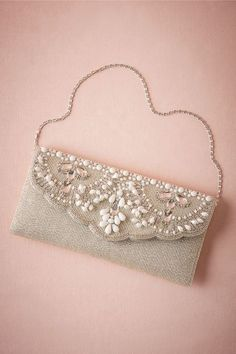 Matilda Beaded Clutch in Shoes & Accessories Clutches at BHLDNYou acquired to start dating when using the overnight - and in fact now it is time for a stlylish grasp to complete your look. view a very large number one-of-a-kind opportunities select f Embellished Purses, Beaded Purses, Beaded Bags, Bridal Clutch, Wedding Clutch, Vintage Clutch, Best Leather Wallet, Beaded Clutch, Fabric Bags