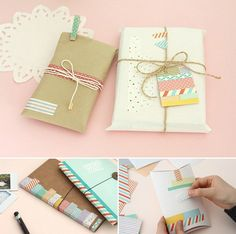 Gift wrapping with washi
