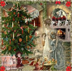 Oh Christmas Tree by Merry Christmas Gif, Christmas World, Christmas Night, Christmas Cats, Christmas Pictures, Christmas Angels, Victorian Christmas, Retro Christmas, Winter Wonderland Pictures