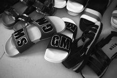 MGSM fur letter sandals backstage at MSGM SS15, Milan menswear. More images here: http://www.dazeddigital.com/fashion/article/20413/1/msgm-ss15