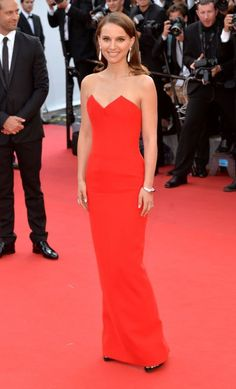 The best of the 2015 Cannes Film Festival red carpet: Natalie Portman in a red Dior dress.