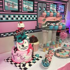 Wow!! Take a look at this amazing Cake at this SOCK HOP Baby Shower! See more party ideas and share yours at CatchMyParty.com