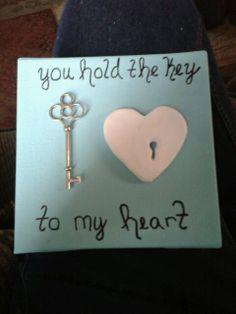 Key to my heart; diy gift for boyfriend