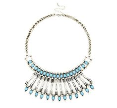 #Silver & #Turquoise COLLAR NECKLACE