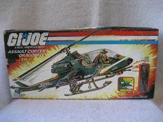 Hasbro GI Joe Dragonfly Helicopter G.I. Joe 1983 vehicle MIB toy.