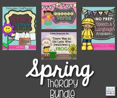 Spring Speech Therapy Bundle! Includes data collection, grammar instruction, literacy, and No Prep activities to make planning your spring therapy EASY!