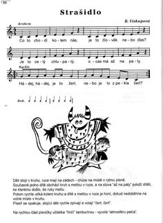 Strašidlo Kids Songs, Halloween, Sheet Music, Notes, Calligraphy, Christmas, Xmas, Report Cards, Lettering