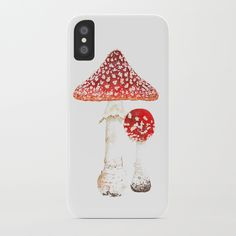 Fly agaric iPhone Case by schimoni_art