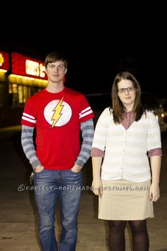 Dr. Sheldon Cooper and Amy Farrah Fowler Couple Halloween Costume... This website is the Pinterest of costumes