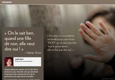 « Quand une fille ditnon, elle veut dire oui!» - La Presse+ Roman, Dire, Oui, Cards Against Humanity, I Want You, Sociopath