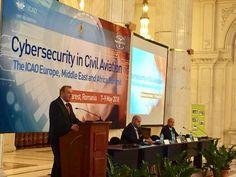 07.05.2018 - Ministrul Transporturilor, Lucian Șova, a deschis lucrările summitului privind securitatea cibernetică în aviația civilă, de la Palatul Parlamentului, organizat de ICAO (Organizația Internațională a Aviației Civile) Civil Aviation, Fun, Hilarious