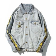 Warning Denim Jacket