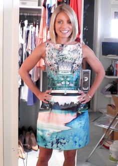 Today Kelly Ripa looked stunning in a dress by Mary Katrantzou. #Fashion #FashionFinder #Dress #MaryKatrantzou #KellyRipa 6-11-14
