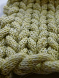 I-cord knitted into stockinette stitch - love this for any chunky project!