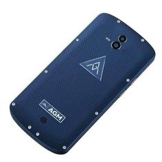 Blue Agm X1 Triple Proofing Phone 4gb+64gb Fingerprint Identification Dual 13.0mp Back Cameras 5400m