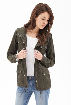 Life In Progress™ Hooded Utility Jacket | FOREVER21 - JUST bought one like this at the thrift store for $5!