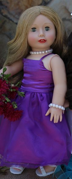 Beautiful gowns for American Girl. Worn by Harmony Club Doll, Cadence Rose. Dolls & Outfits Available at www.harmonyclubdolls.com