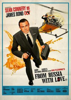 Famous Movie Posters, James Bond Movie Posters, James Bond Movies, Famous Movies, Old Movies, Film Posters, Vintage Movies, Great Movies, James Bond Style