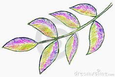 Illustration about A bright colorful gel pen sketch of leaves on a white paper background. Illustration of artwork, leaves, decorative - 137866792 Pen Sketch, Gel Pens, Paper Background, White Paper, Markers, Plant Leaves, Bright, Colorful, Abstract