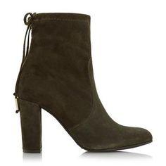 DUNE FEMME - ORCHID - Bottines à bout arrondi et talons carrés - kaki   Boutique en ligne Dune Shoes