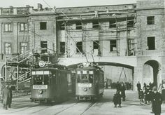 Warsaw 1918; the Justice Building under construction, Krasiński Square