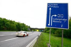 Autobahn, in Germany. Highways with no legal speed limit would be the perfect place to drive a Porsche.