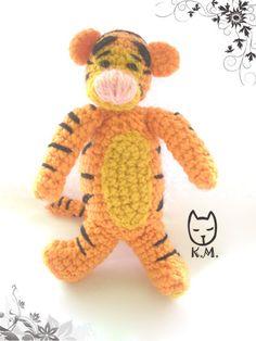 free cochet amigurumi Tiger, not english, pic tutorial