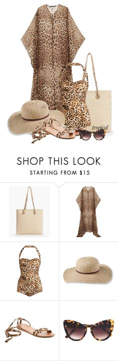 """Tropical Vacation"" by amchavesj-1 ❤ liked on Polyvore featuring Talbots, Dolce&Gabbana, Norma Kamali, L.L.Bean, Breckelle's, STELLA McCARTNEY and TropicalVacation"