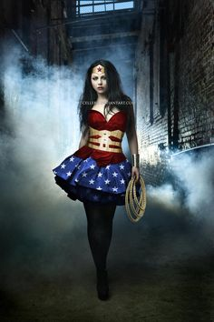 #AmyLee from #Evanescence as #WonderWoman by cellebg on deviantART