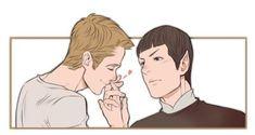 """lostconner: """"Do you feel cold? Star Trek Spock, Star Trek Tos, Star Terk, Star Trek Reboot, Spock And Kirk, Star Trek Characters, Star Trek Ships, Nerd, Fan Art"""