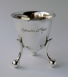 Victorian Modernist Silver Egg Cup ca 1886 - It looks so contemporary and is over a century old.