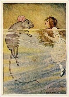Milo Winter (American, 1888-1956). Illustration from Alice in Wonderland. 1916.