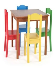 cd8d6a8421c Tot Tutors Pastel Kids 5 Piece Rectangle Table and Chair Set in 2019 ...