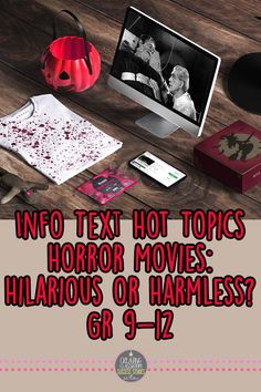 This hot topics nonfiction mini lesson in print and digital format is the perfect ready-to-go resource to practice close reading skills and comprehension if you are looking for an interesting way to engage students with informational, expository texts this Halloween. you are getting a full blown mini lesson plan complete with a relevant video link for a starter, an argumentative writing prompt, and spooky creative project... all perfect Halloween activities!