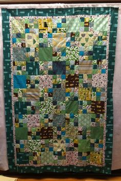 green robot quilt, made for my honey