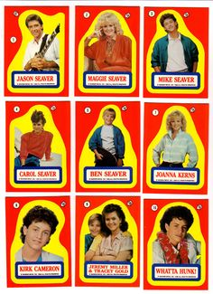 Growing Pains™ sticker sheet. I remember these. I used to have the ALF set in my sticker book as a kid.