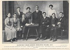 Sandusky High School Debate Team of 1911
