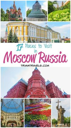 Moscow is a very beautiful, history-rich city. The architecture is nothing short of amazing. Whether you are here 1 day or 5 days, these are the places to visit in Moscow Russia you don\'t want to miss! #moscow #russia #places #locations #travel