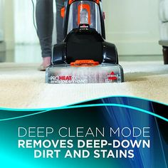 There's no need for rentals when you have the Bissell 1548 ProHeat 2X Revolution Pet Upright Carpet Cleaner. Working hard to remove tough pet stains, the revolutionary design actually out cleans the leading rental.* With a Deep Clean Mode that offers powerful cleaning and an Express Clean Mode for quick and easy cleaning, it has a lightweight design and low-profile foot for easy maneuvering. It's never been easier to get a professional deep cleaning without the professionals! The Dual…
