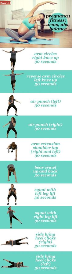 #Pregnancy fitness 101 from Hot Topics' @Heather Catlin. Check out these arms, abs and balance tips!