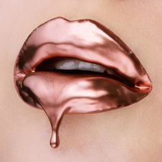 Hey, I found this really awesome Etsy listing at https://www.etsy.com/listing/263254553/rose-gold-dripping-lips-print