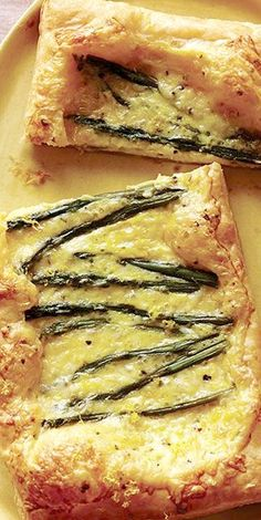 Asparagus Cheese Tarts - These tarts make such a great lunch or picnic food, as they can be served hot or cold.