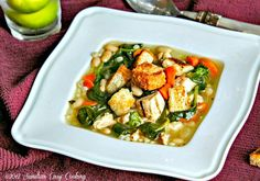 Recipe for Spinach, Beans and Barley Soup with Grilled Chicken