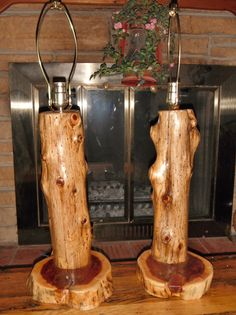 Cedar Log Lamps, For More Pics And Info Please Visit Www.facebook.com