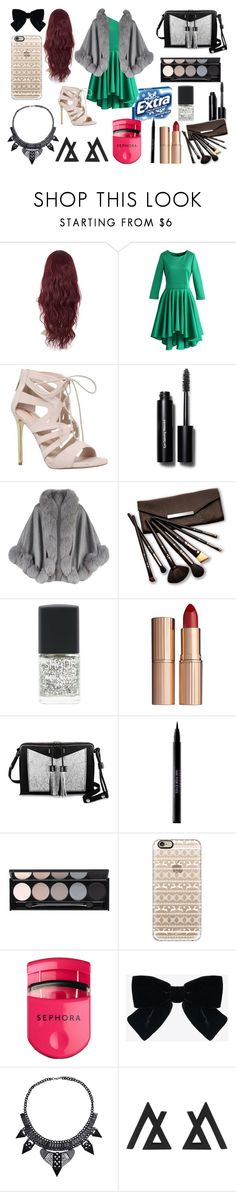 """Red Carpet Clothes"" by aaliyahburton ❤ liked on Polyvore featuring Chicwish, Carvela, Bobbi Brown Cosmetics, Harrods, Borghese, Lane Bryant, Charlotte Tilbury, Carianne Moore, Urban Decay and Witchery"