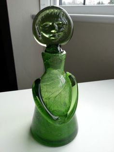 Kosta Boda ERIK HOGLUND / EDWARD HALD GREEN GLASS ANGEL / PEOPLE DECANTER H287   eBay