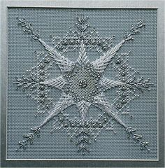 Snowflake - charted needlepoint design.